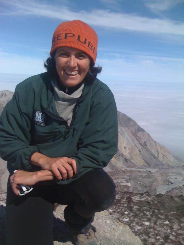 top of Mt St Helens