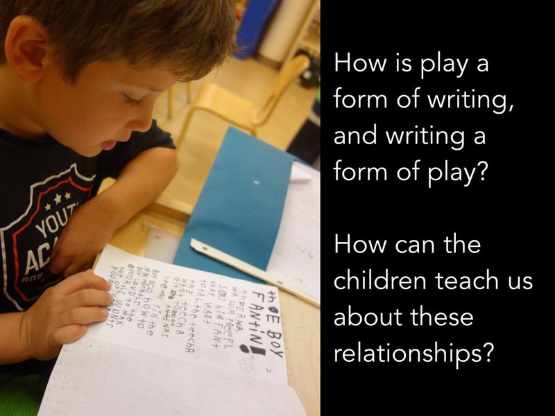 Play and writing - owen